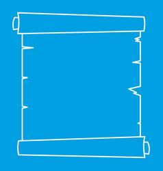 retro scroll paper icon outline vector image vector image