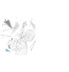 Conceptual abstract man getting ready to jump vector