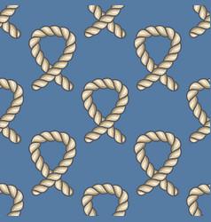 marine ropes seamless pattern vector image vector image