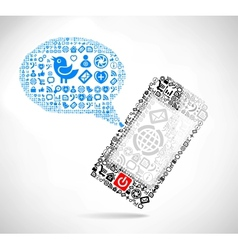 Mobile phone text message vector image