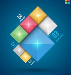 Modern squares design banner vector image