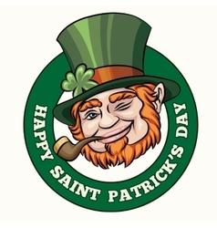 Saintt Patricks Day Badge vector image vector image