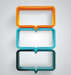 text box design vector image vector image