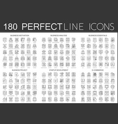 180 outline mini concept icons symbols of business vector