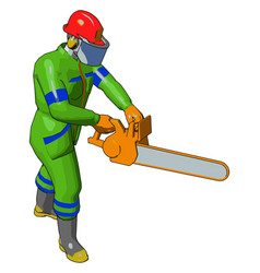 A worker cartoon or color vector