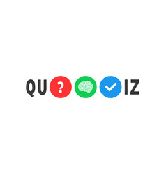 Abstract colored text for quiz game vector