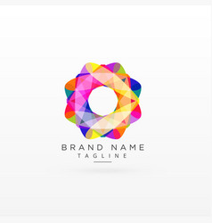 abstract colorful logo design concept vector image