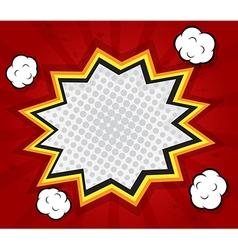 abstract explode boom blank speech bubble pop art vector image