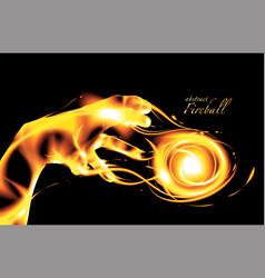 Abstract flaming fireball spell vector