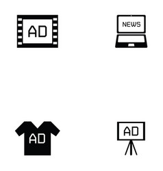 advertisement icon set vector image