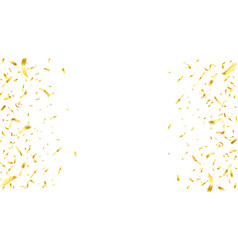 alling shiny golden confetti background on white vector image