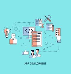 app development and design concept app vector image