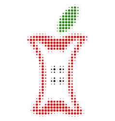 apple stump halftone icon vector image