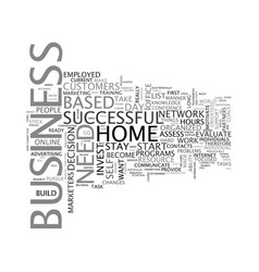 are you ready to start a home based business text vector image