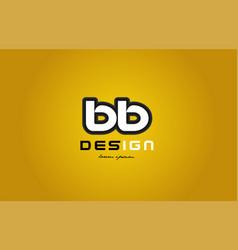 Bb b b alphabet letter combination digit white on vector