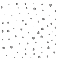 Black snow on white background vector image