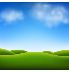 blue sky and landscape vector image