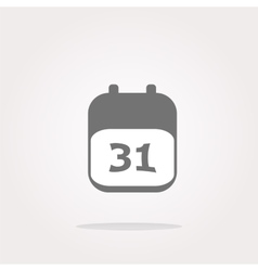 Calendar apps icon glossy button day 31 vector