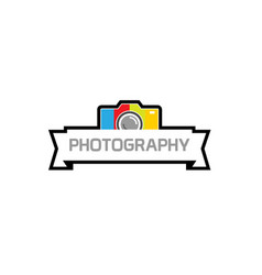 camera photography colorful device logo vector image