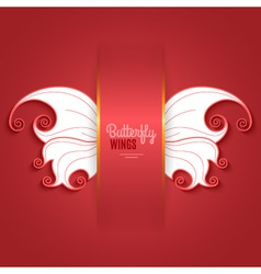 Card with abstract butterfly wings vector image vector image