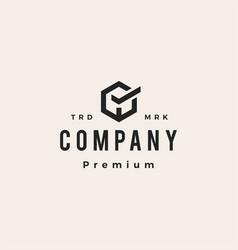 check box cube hipster vintage logo icon vector image