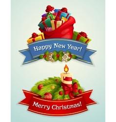 Christmas banner set vector image