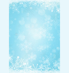 Christmas blackboard background with snowflake vector