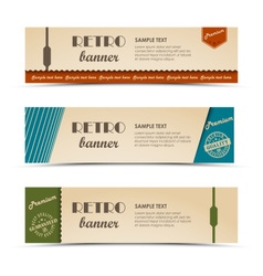 Collection retro horizontal banners template vector image