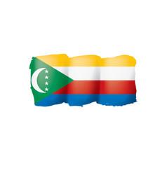comoros flag on a white vector image