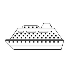 Cruiseship travel icon image vector