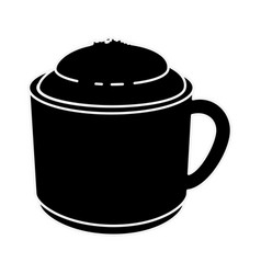 delicious coffee mug vector image