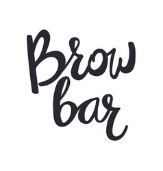 design logo for brow bar brow bar lettering text vector image