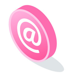 digital marketing button with email logo vector image