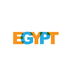 Egypt phrase overlap color no transparency vector
