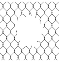 Fence chain with hole vector