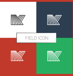 Field icon white background vector