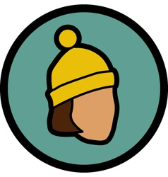 Figure in a hat vector image