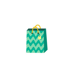 flat present paper bag shopping bag vector image