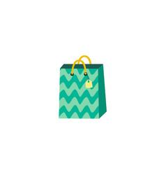 flat present paper bag shopping bag vector image