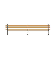 flat style bench icon isolated on white vector image