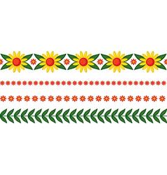 Floral garland vector