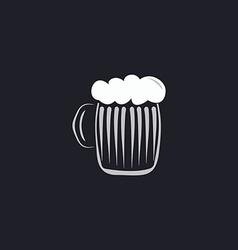 Foamy beer computer symbol vector