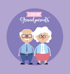 grandparents couple together and cute love vector image
