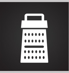 grater icon on black background for graphic and vector image