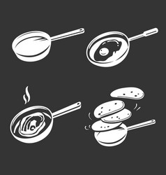 Griddle icon set simple style vector