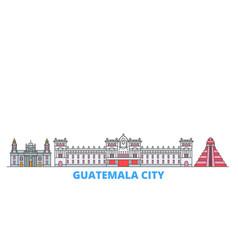 Guatemala city line cityscape flat vector
