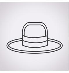 hat icon vector image