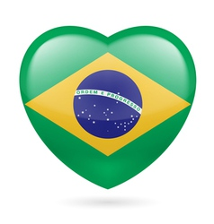 Heart icon of Brazil vector image