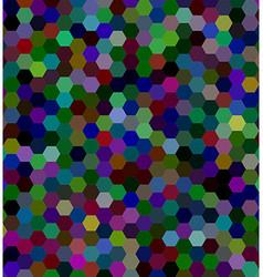 Hexagonal tile mosaic background vector