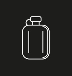 hip flask simple icon on black background vector image